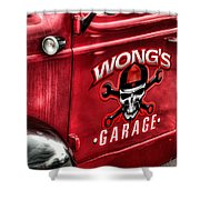 Wong's Garage Shower Curtain