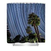 Wonky Star Trails Shower Curtain