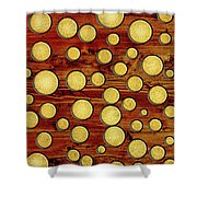 Wood And Gold Shower Curtain