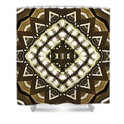 Wood And Light Shield Shower Curtain
