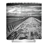 Wood And Pier Shower Curtain