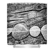Wood And Stones - Vertical Shower Curtain