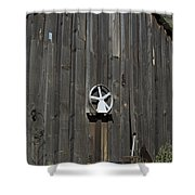 Wood And Wheel Shower Curtain