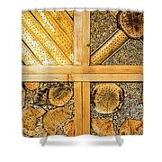 Insect Hotel #1 Shower Curtain