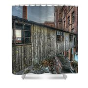 Wood Bridge Shower Curtain