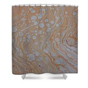Wood Cells Shower Curtain