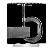 Wood Clamp Shower Curtain