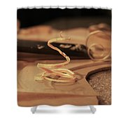 Wood Curl Shower Curtain