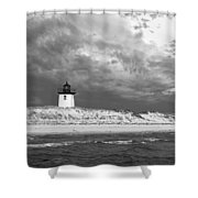 Wood End Lighthouse Provincetown Shower Curtain