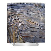 Wood Face  Shower Curtain