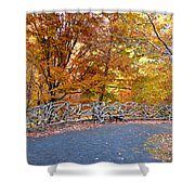 Wood Fence 1 Shower Curtain