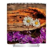 Wood - Id 16235-142749-1958 Shower Curtain