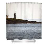Wood Island Lighthouse 2 Shower Curtain
