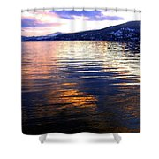 Wood Lake Reflections Shower Curtain