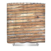 Wood Lines Shower Curtain