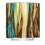 Wood On The Inside Shower Curtain