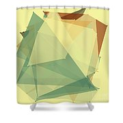 Wood Polygon Pattern Shower Curtain