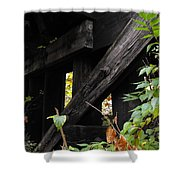 Wood Rail Underpass Shower Curtain