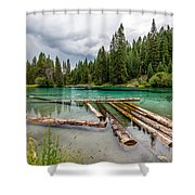 Wood River 04 Shower Curtain