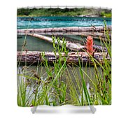 Wood River 07 Shower Curtain