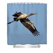 Wood Stork 1 Shower Curtain