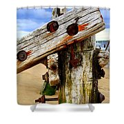 Wood Structure Shower Curtain