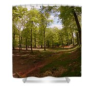 Woodbury Castle Shower Curtain
