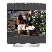 Woodcarver Shower Curtain