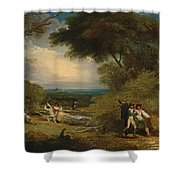 Woodcutters In Windsor Park Shower Curtain
