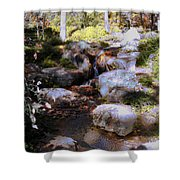 Wooded Blue Brook Shower Curtain