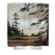 Wooded Shore Shower Curtain