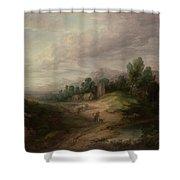 Wooded Upland Landscapewooded Upland Landscape By Thomas Gainsborough, Circa 1783 Shower Curtain