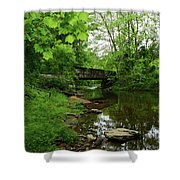 Wooded Valley Of The Patapsco River North Branch Maryland Shower Curtain