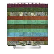 Wooden Abstract X  Shower Curtain