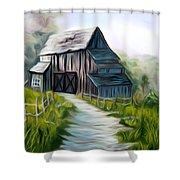 Wooden Barn Dreamy Mirage Shower Curtain