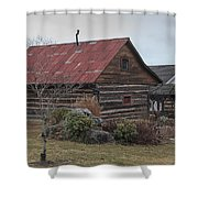Wooden Barn Shower Curtain