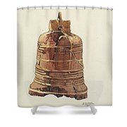 Wooden Bell Shower Curtain