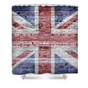 Wooden Boards United Kingdom Shower Curtain
