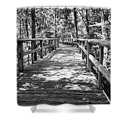 Wooden Boardwalk B Shower Curtain