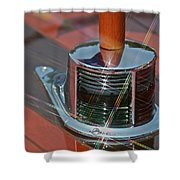 Wooden Boat Details Shower Curtain