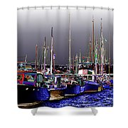 Wooden Boats 2 Shower Curtain