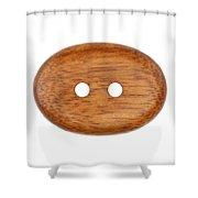 Wooden Button Shower Curtain