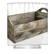 Wooden Carry Crate Shower Curtain