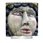 Wooden Carving In Santa Fe 8 Shower Curtain