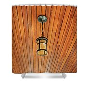 Wooden Ceiling Shower Curtain