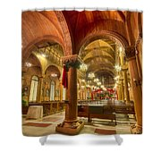 Wooden Church Shower Curtain