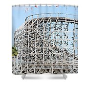 Wooden Coaster Shower Curtain