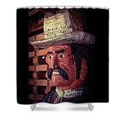 Wooden Cowboy Shower Curtain