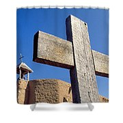 Wooden Cross And Penitente Church Shower Curtain