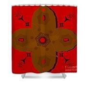 Wooden Cross Shower Curtain